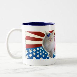 God Bless America Two-Tone Coffee Mug