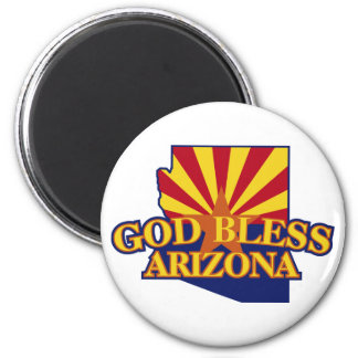 God Bless Arizona 2 Inch Round Magnet