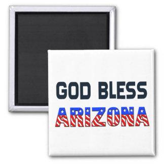 God Bless Arizona Square Magnet