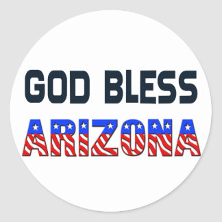 God Bless Arizona Round Sticker