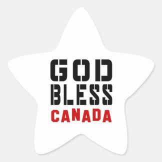 God Bless Canada Star Sticker