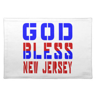 God Bless New Jersey Cloth Placemat
