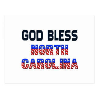 God Bless North Carolina Postcard
