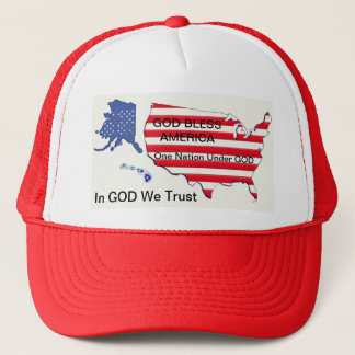 GOD Bless...One Nation...We Trust Trucker's Hat
