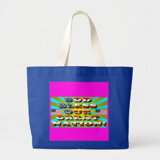God Bless Our Great Nation! Large Tote Bag