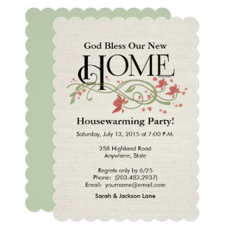 God Bless Our Home: Personalized Card