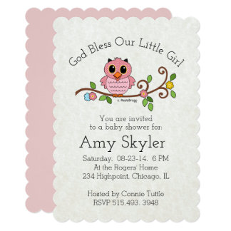 God Bless Our Little Girl: Personalized Card