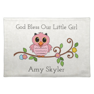 God Bless Our Little Girl: Personalized Placemat