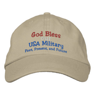 God Bless our Military Cap - by SRF Embroidered Hat