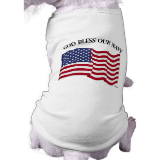 GOD BLESS OUR NAVY with US flag Shirt