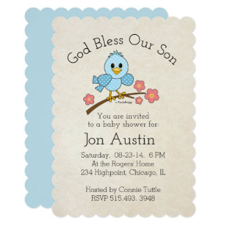 God Bless Our Son: Personalized Card