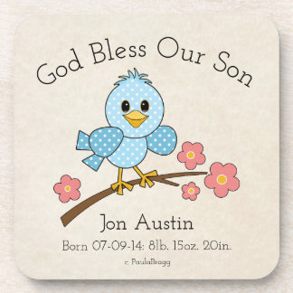 God Bless Our Son: Personalized Coaster