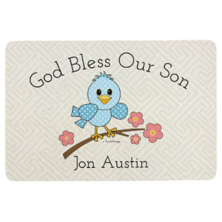 God Bless Our Son: Personalized Floor Mat