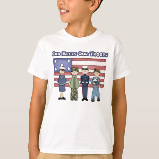 God Bless Our Troops - Kid's T-Shirt