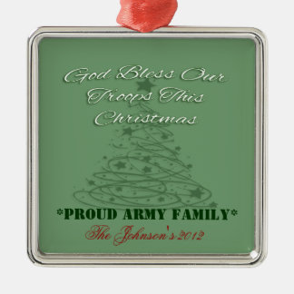 God Bless Our Troops Ornament