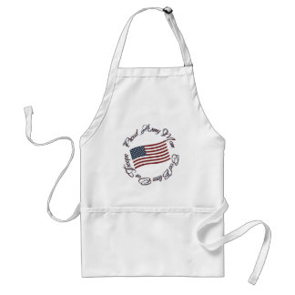 God Bless Our Troops, Proud Army Mom Standard Apron