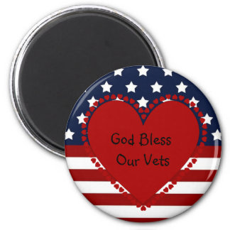 God Bless Our Vets Magnet