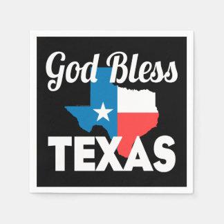 God Bless Texas Paper Napkin