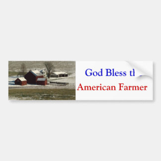 God Bless the  American Farmer bumper sticker