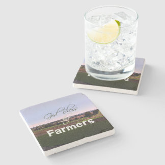 God Bless the Farmers Stone Coaster