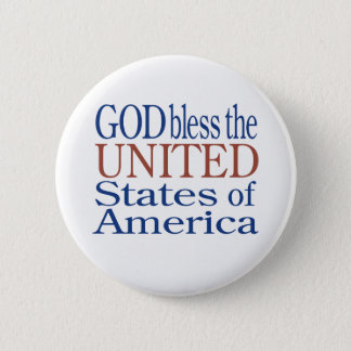 GOD Bless the UNITED States of America BUTTON