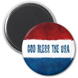 God Bless the USA Grunge Magnet