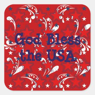 God Bless the USA Sticker