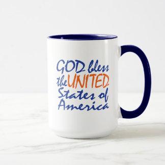 GOD BLESS UNITED STATES MUG