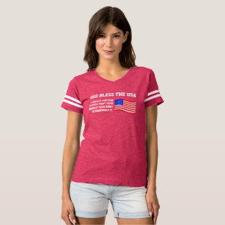 God Bless USA | Respect the Flag | Anthem Protest T-shirt