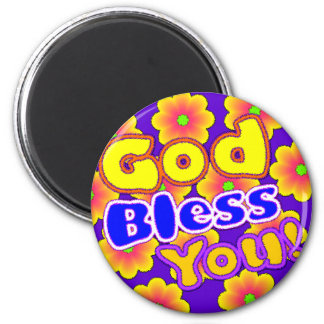 God Bless You!  Magnet