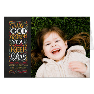 God Bless You Religious Holiday Card