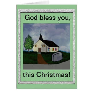 God bless you this christmas Card