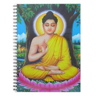 God Buddha Spiral Note Books