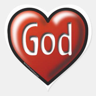 God Christian Heart Sticker