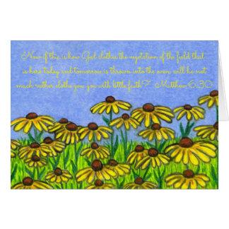 God Clothes Vegetation~Scripture~Black Eyed Susans Card