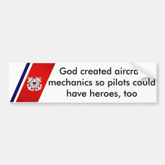 God Created Aircraft Mechanics Bumper Sticker
