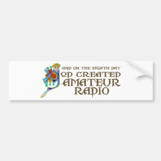 God Created Amateur Radio Bumper Sticker