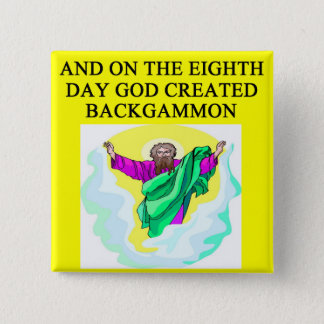 god created backgammon 2 inch square button