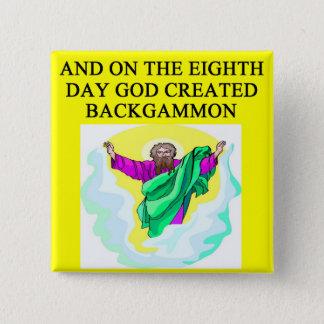 god created backgammon 2 inch square button