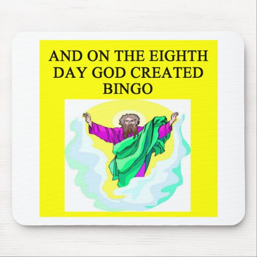 god created bingo mouse pads