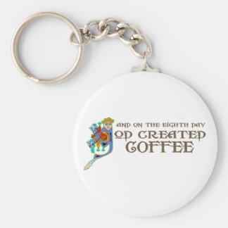 God Created Coffee Keychains