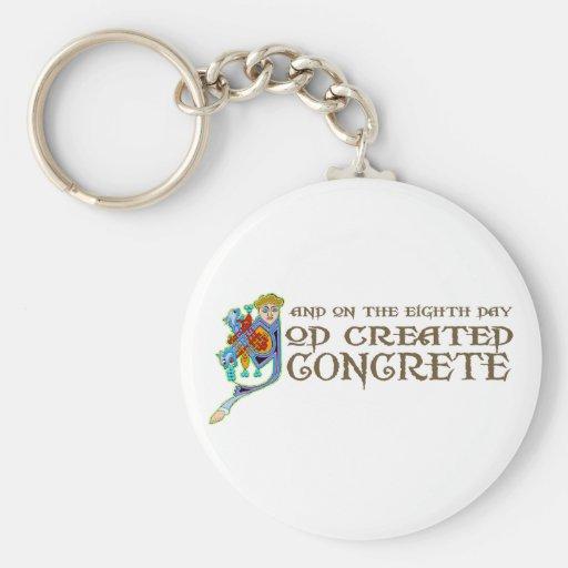 God Created Concrete Key Chains