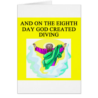 god created diving card