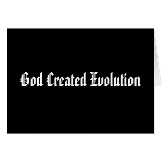 God Created Evolution Note Card