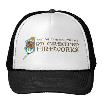 God Created Fireworks Hats