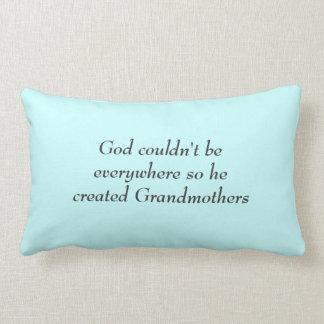 God Created Grandmothers Lumbar Pillow