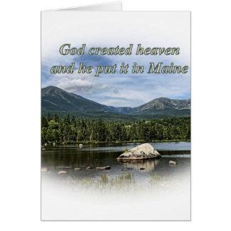 God created heaven greeting card