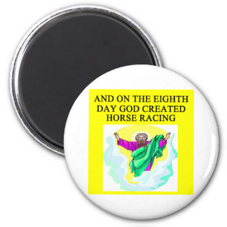 god created horse racing magnet