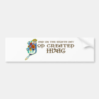 God Created HVAC Bumper Sticker