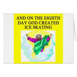 god created ice skating card